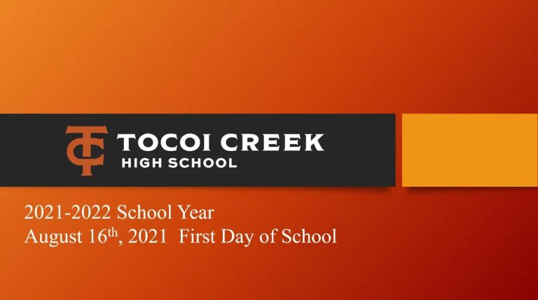 Tocoi Creek High School - 2021-2022 School Year Presentation