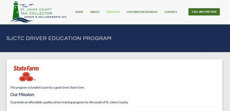 SJCTC Driver Education Program Website